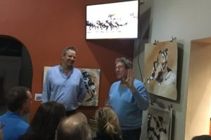 Nicholas Dyer talking at Painted Wolves Wines